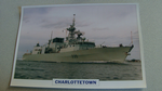 1994 Charlottetown Canadian Frigate warship framed picture